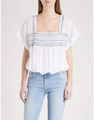 Free People Skies square-neck woven top
