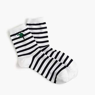 J.Crew Ankle boot sock in plam tree stripe