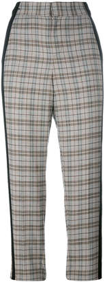 A.F.Vandevorst check cropped trousers
