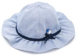Familiar flower detail hat