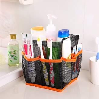Binmer Mesh Shower Caddy Tote Wash Bag Dorm Bathroom Caddy Organizer with 8 Basket Pockets Storage Package