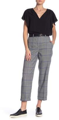 Vince Camuto Plaid Cuffed Crop Pants