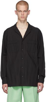 Valentino Black Pleated PJ Shirt