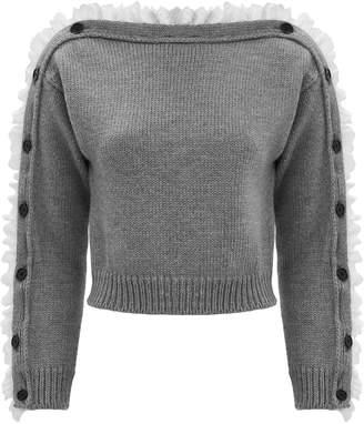 Philosophy di Lorenzo Serafini Lace-Trimmed Sweater