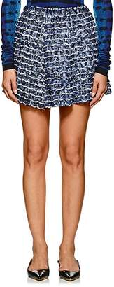 Proenza Schouler Women's Fringed & Pleated Abstract-Print Crepe Miniskirt