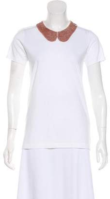Markus Lupfer Sequin Collar T-Shirt w/ Tags