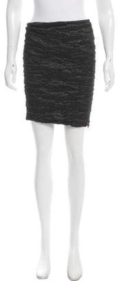 Yigal Azrouel Ruched Iridescent Skirt