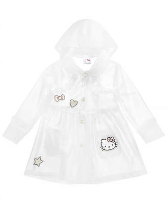 Hello Kitty Little Girls Embroidered Patch Raincoat
