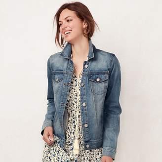 Lauren Conrad Women's Frayed Jean Jacket