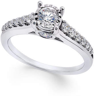 Trumiracle Diamond (3/4 ct. t.w.) Engagement Ring in 14k White Gold
