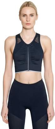 adidas by Stella McCartney Seamless Zip-Up Climalite Sports Bra