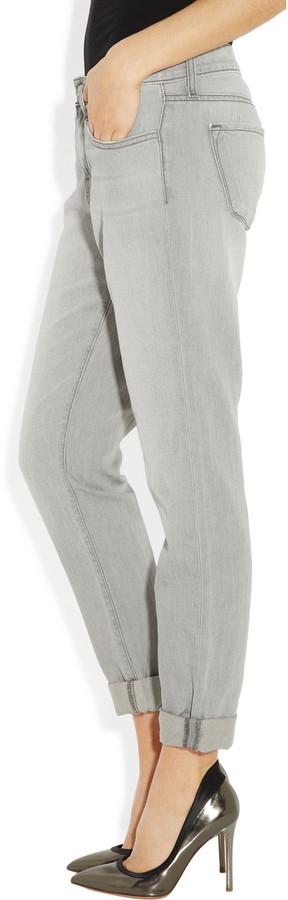 J Brand Aiden mid-rise cotton and linen-blend boyfriend jeans