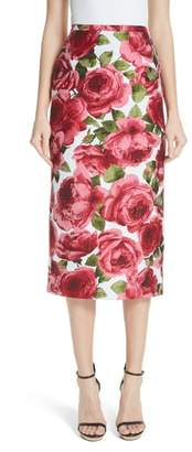 Michael Kors Floral Print Pencil Skirt