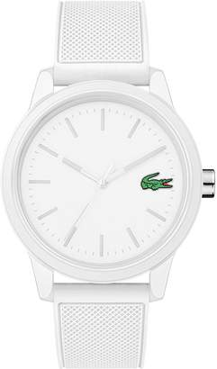 Lacoste Men's 12.12 Watch with White Silicone Strap