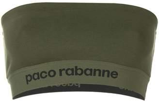 Paco Rabanne logo printed tube top
