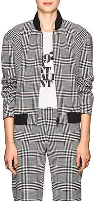 Robert Rodriguez Women's Plaid Stretch-Twill Bomber Jacket - Red