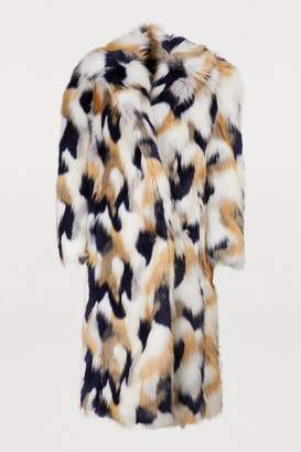 Givenchy Faux fur long coat