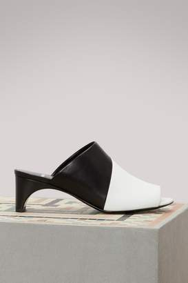 Pierre Hardy Leather heeled mules