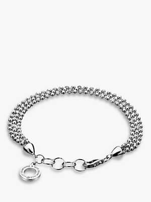 Hot Diamonds Sterling Silver Bead Bracelet, Silver