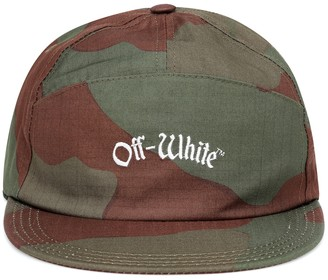 Off-White Off White Embroidered cotton cap