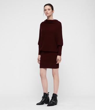 AllSaints Ridley Cowl Dress