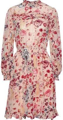 By Ti Mo Bytimo Ruffle-trimmed Shirred Floral-print Georgette Dress
