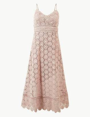Marks and Spencer Lace Waisted Midi Dress