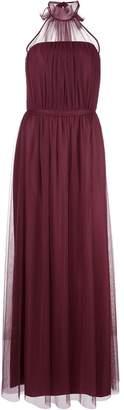 Amsale halterneck chiffon gown