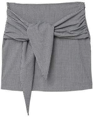 MANGO Knot checked skirt
