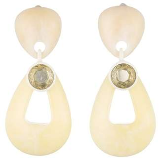 Dannijo Kiss Double Drop Clip-On Back Earrings