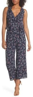 Paige Paletta Floral Print Crop Jumpsuit