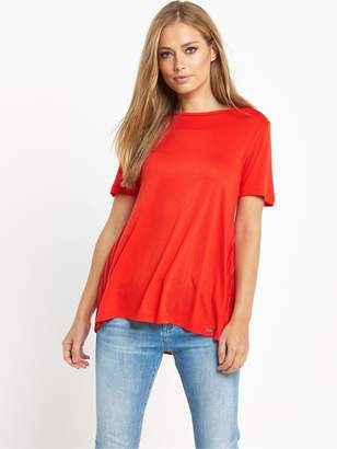BOSS ORANGE Taplisse Pleat Back T-Shirt