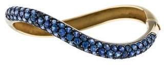 Gioia 18K Sapphire Wave Bracelet