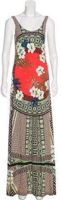 Etro Printed Maxi Dress Tan Printed Maxi Dress