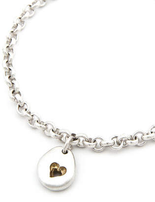 Neve Latham & Pebble Bracelet Matt Silver With Gold Detail