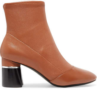 3.1 Phillip Lim Drum Leather Ankle Boots - Light brown