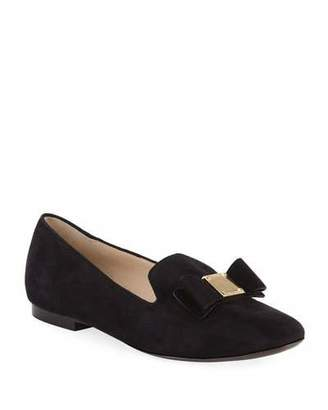 Cole Haan Tali Grand Bow Suede Loafers