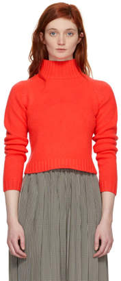 The Elder Statesman Red Highland Cropped Turtleneck