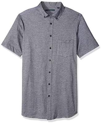 Perry Ellis Men's Big and Tall Solid Oxford Knit Shirt