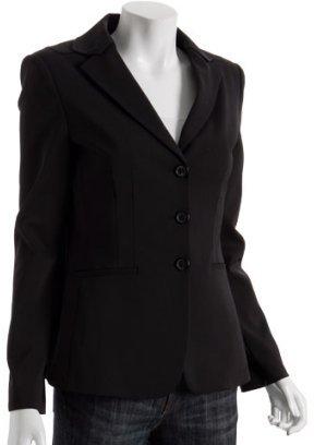 Elie Tahari black microstretch 'Luanne' 3-button jacket