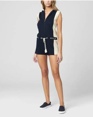 Juicy Couture LACE-UP FRENCH TERRY HOODED ROMPER