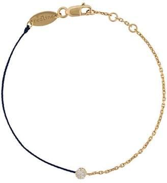 Redline 18kt gold and diamond string and chain bracelet