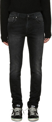 Nudie Jeans Black Thin Finn Jeans $220 thestylecure.com