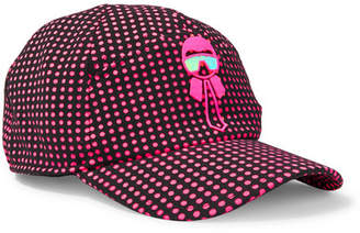 Fendi Karlito Appliquéd Polka-dot Tech-jersey Baseball Cap - Fuchsia