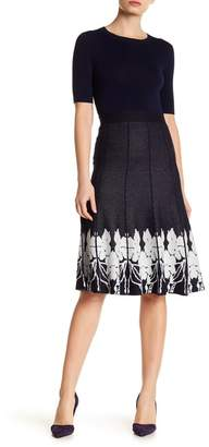 Lauren Hansen Pull-On Knit Print Skirt