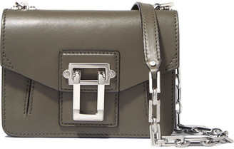 Proenza Schouler - Hava Leather Shoulder Bag - Army green $1,250 thestylecure.com