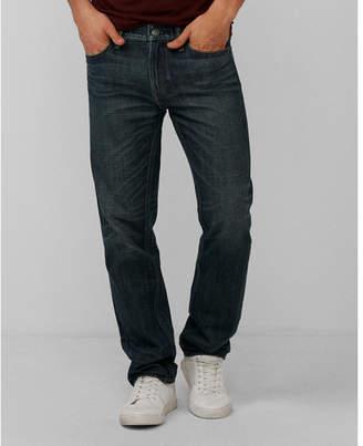 Express slim dark wash distressed pocket 100% cotton jeans