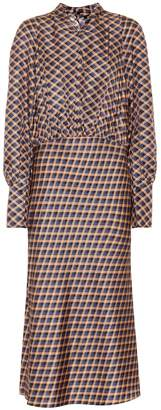Joseph Lucian silk twill midi dress