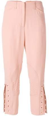 Fendi eyelet detail cropped trousers