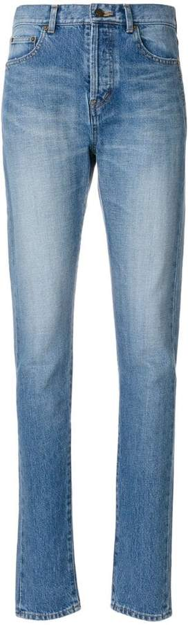 Saint Laurent skinny embroidered jeans